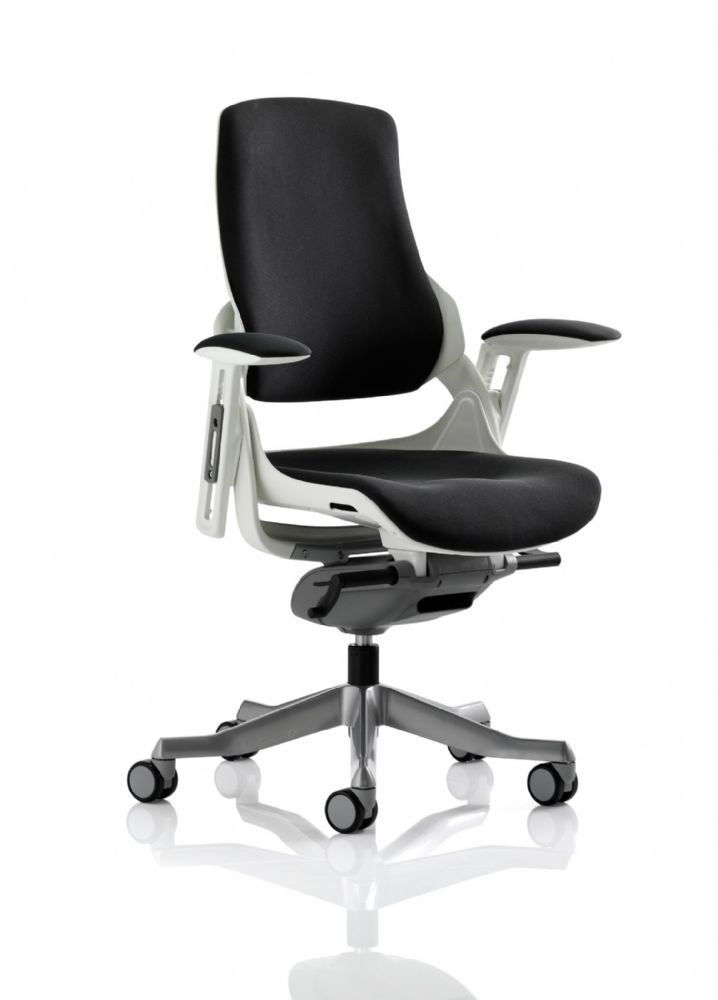 Zure Executive Task Chair Orthopaedic Designed Office Seat & Back in Black Fabric